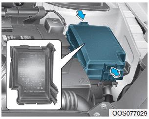 Hyundai Kona Engine Compartment Fuse Panel Fuse Relay Panel Description